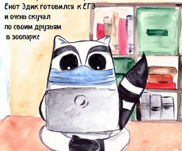 Эдукариум опекает енота в Калининградском зоопарке!